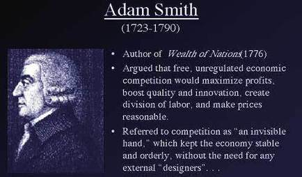 adam smith contribution to economics
